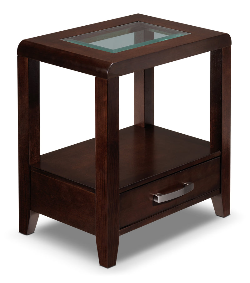 Wilmont Condo End Table - Espresso