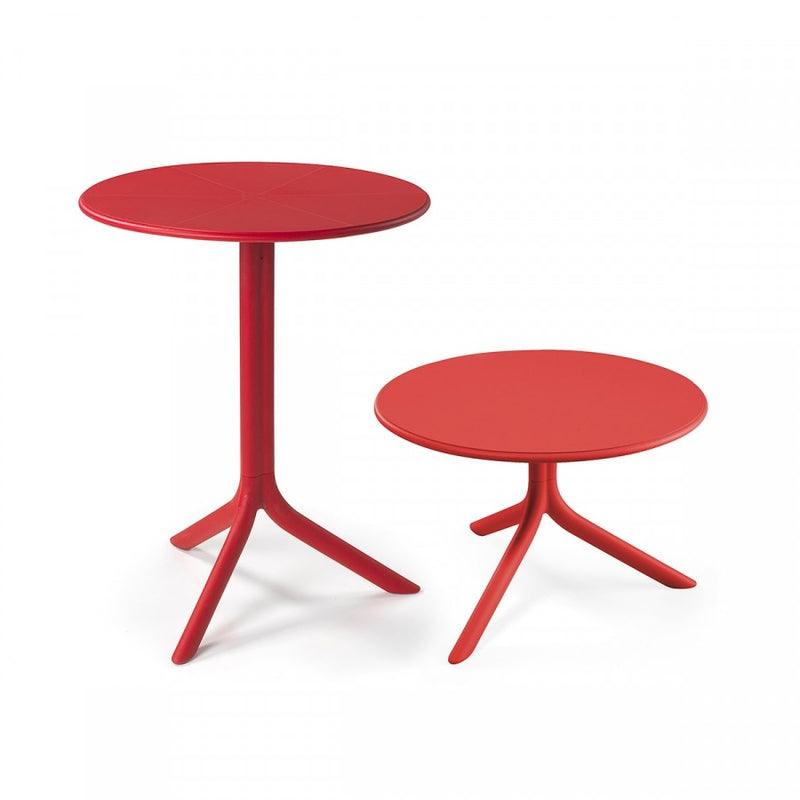 Nardi Spritz Outdoor Adjustable Bistro Tables - Red