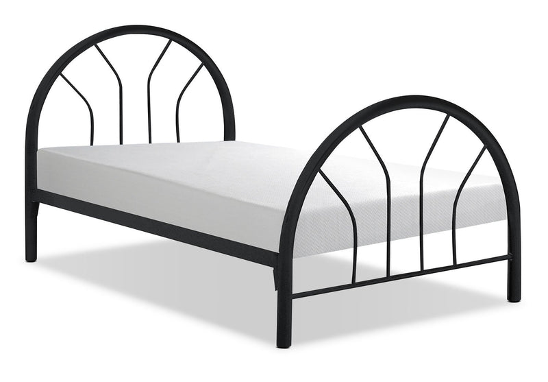 Kidsgrove Black Twin Bed