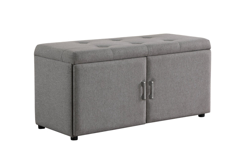 Lucienne Ottoman with Shoe Storage - Grey
