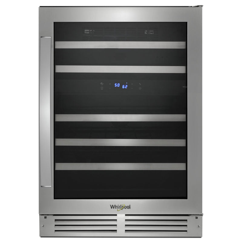 Whirlpool 46-Bottle Under-Counter Wine Cooler - WUW55X24HS