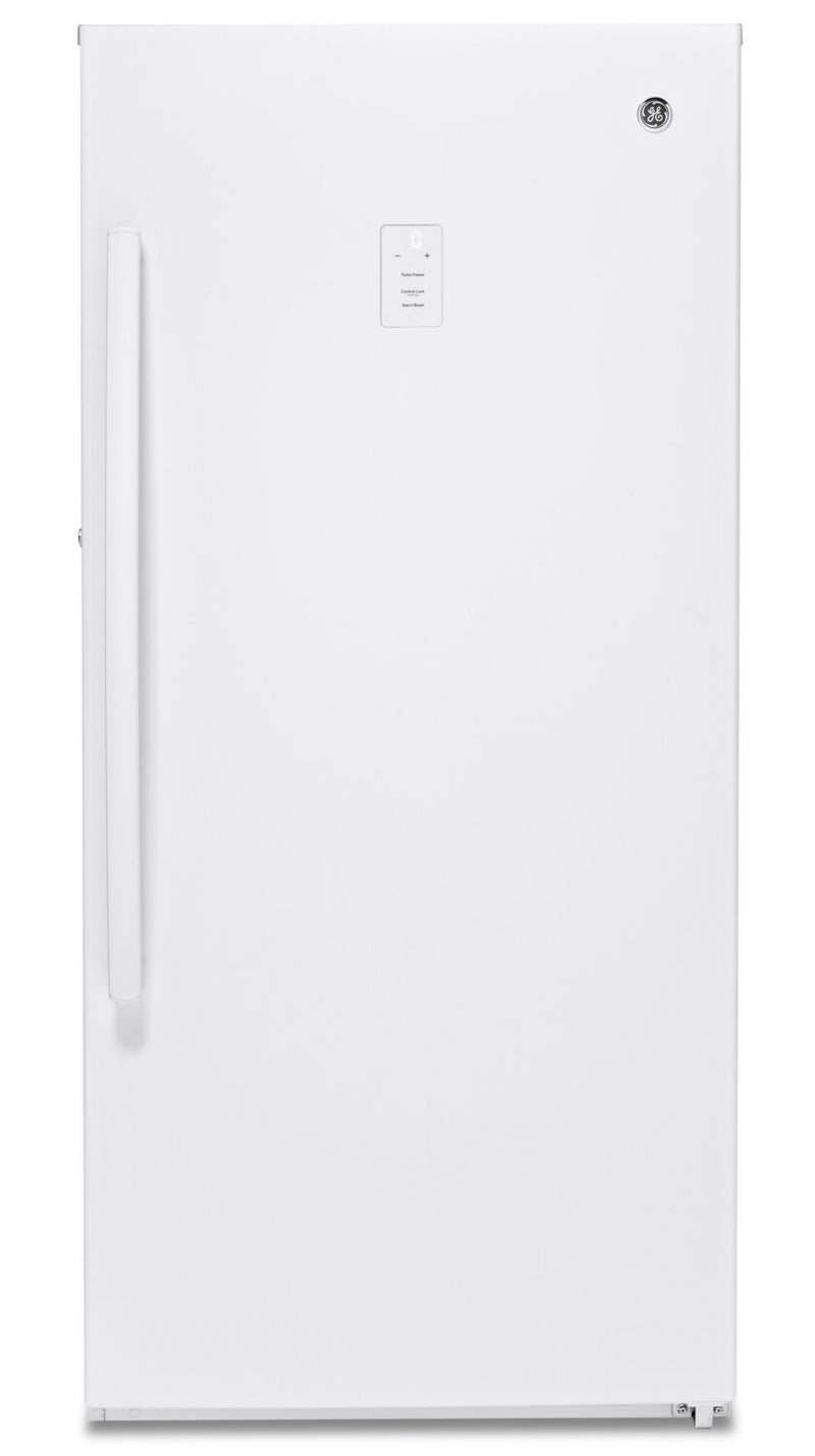 GE 14.1 Cu. Ft. Upright Freezer with Frost-Free - FUF14DLRWW
