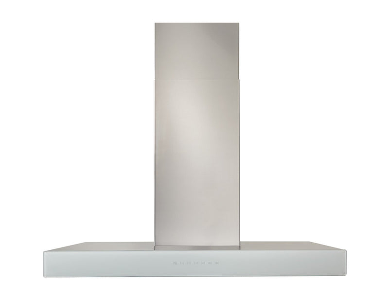 "Venmar Ispira 30"" Chimney Range Hood - WCB3I30SBW - Range Hood in Stainless Steel with White Glass"