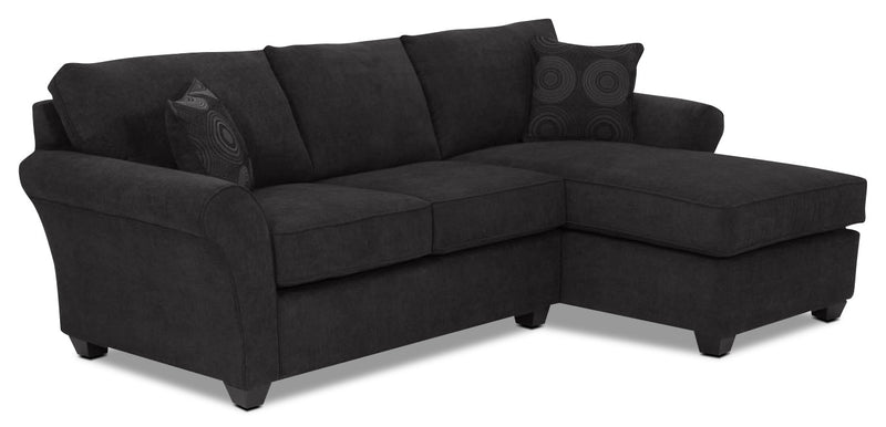 Eckel 2-Piece Sectional with Right-Facing Chaise - Black
