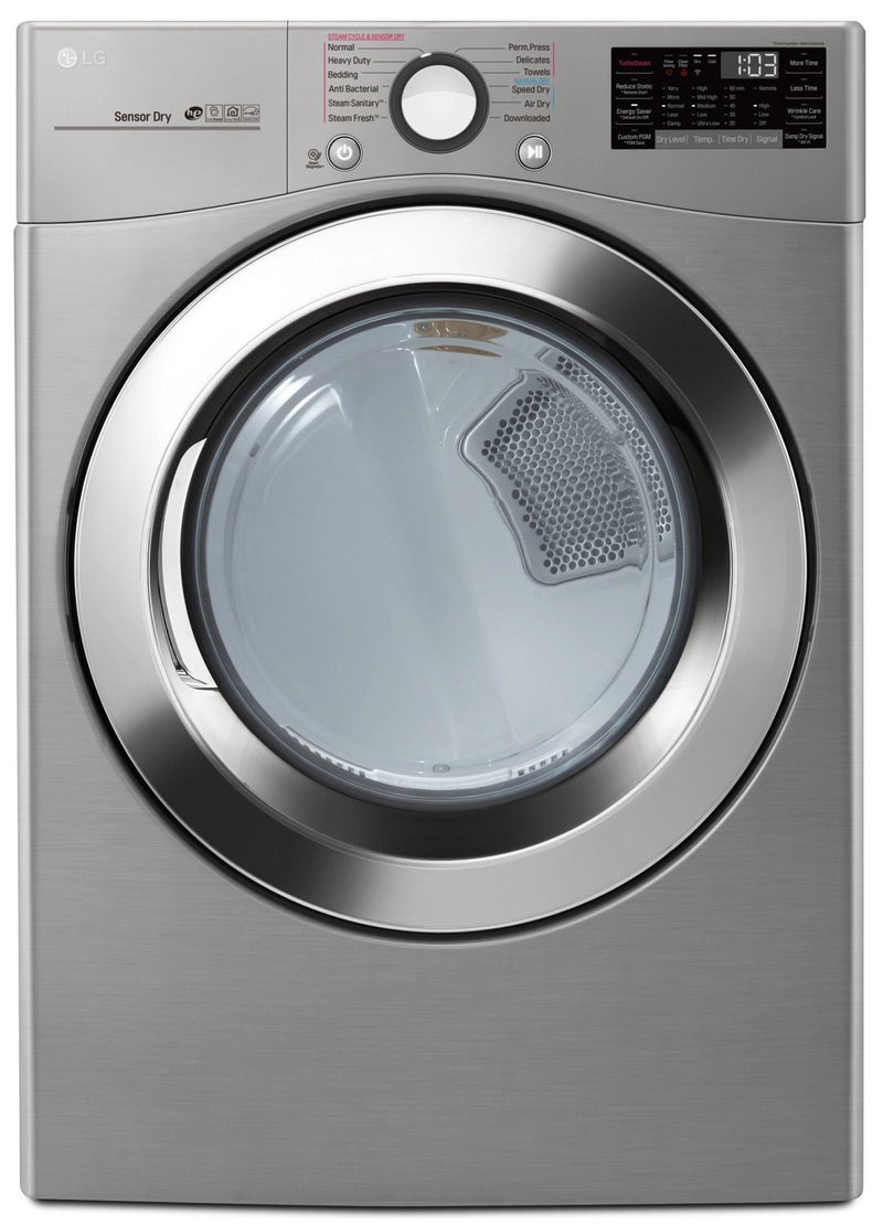 LG 7.4 Cu. Ft. Electric Dryer with TurboSteam™ and WiFi - DLEX3700V
