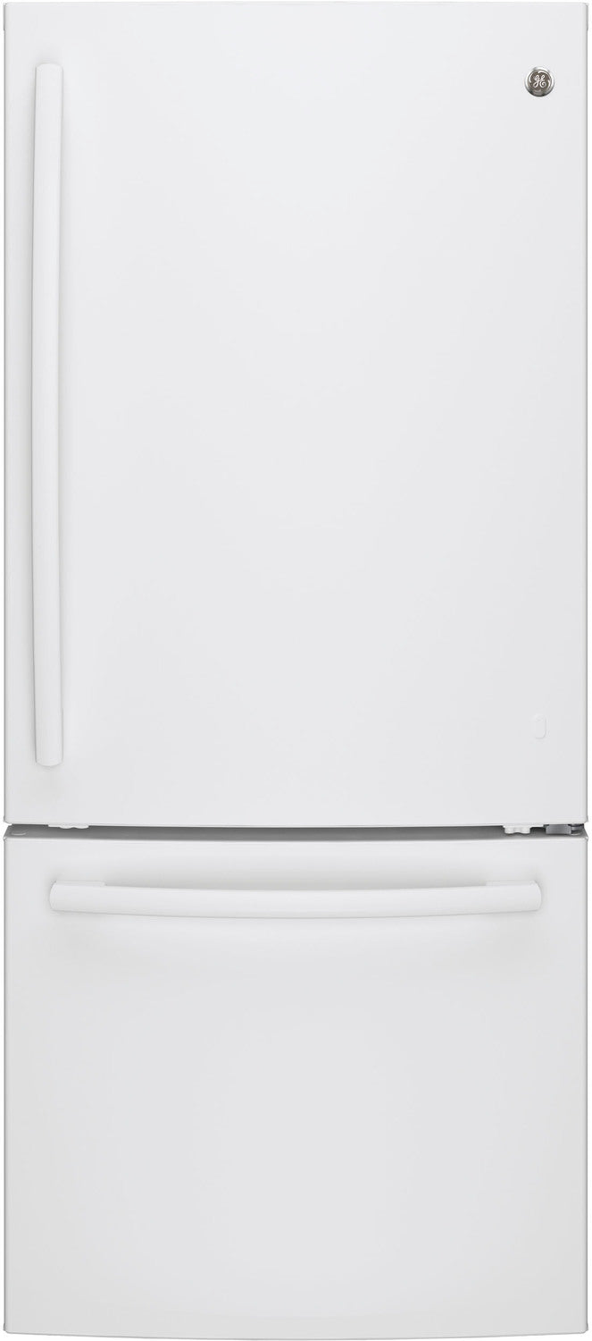 GE White BOTTOM-FREEZER REFRIGERATOR (20.9 CU. FT.) - GBE21AGKWW