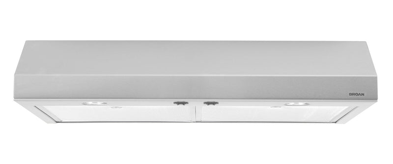 "Broan 30"" 250 CFM Under-Cabinet Range Hood - Stainless Steel"