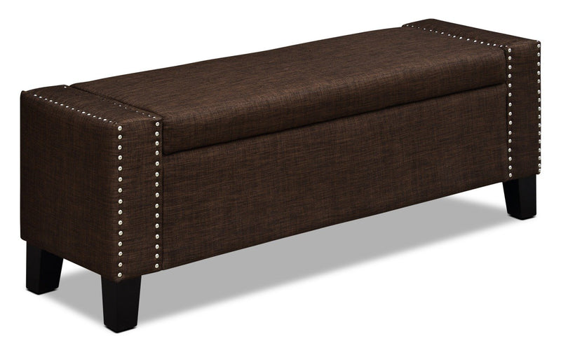 Chieti Storage Ottoman – Dark Brown