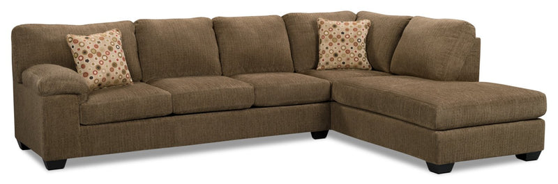 Masham Chenille 2 pc. Right-Facing Chaise Sleeper Sectional