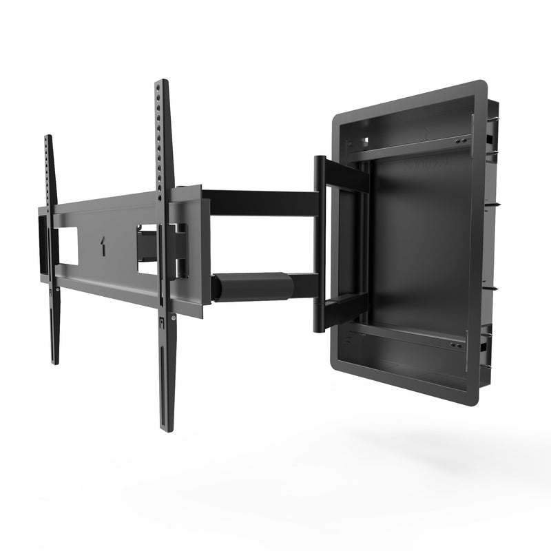 "Low Profile Recessed In-Wall Full Motion TV Wall Mount for 46"" to 80"" TVs - R500"