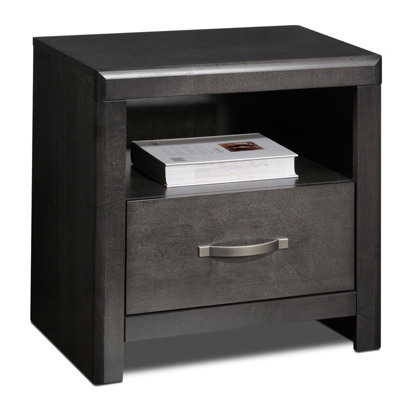 Wilder Night Table - Charcoal