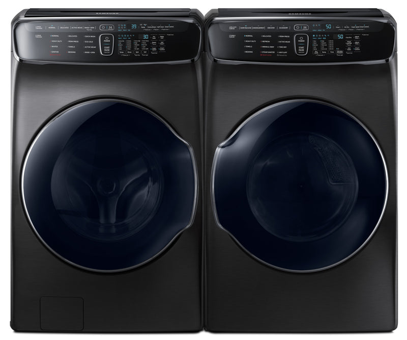 Samsung 6.9 Cu. Ft. FlexWash™ Steam Washer and 7.5 Cu. Ft. Steam FlexDryer™