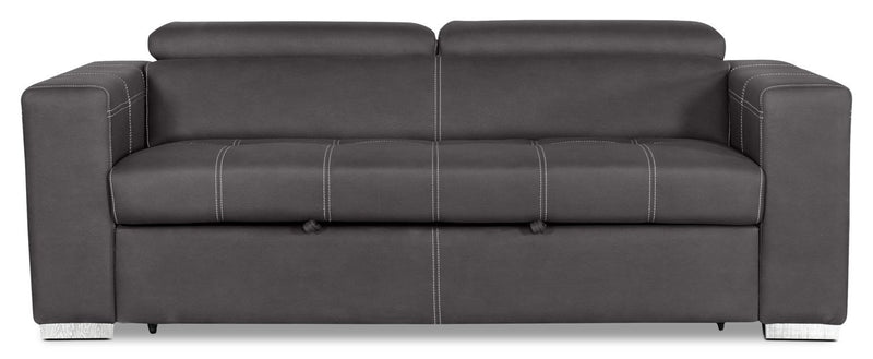 Foynes Faux Suede Sleeper Sofa – Cement