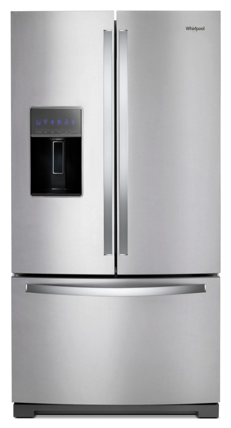 Whirlpool 27 Cu. Ft. French-Door Refrigerator in Fingerprint-Resistant Stainless Steel – WRF757SDHZ