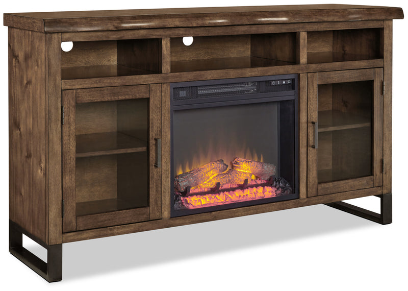 "Halesowen 62"" TV Stand with Log Firebox"