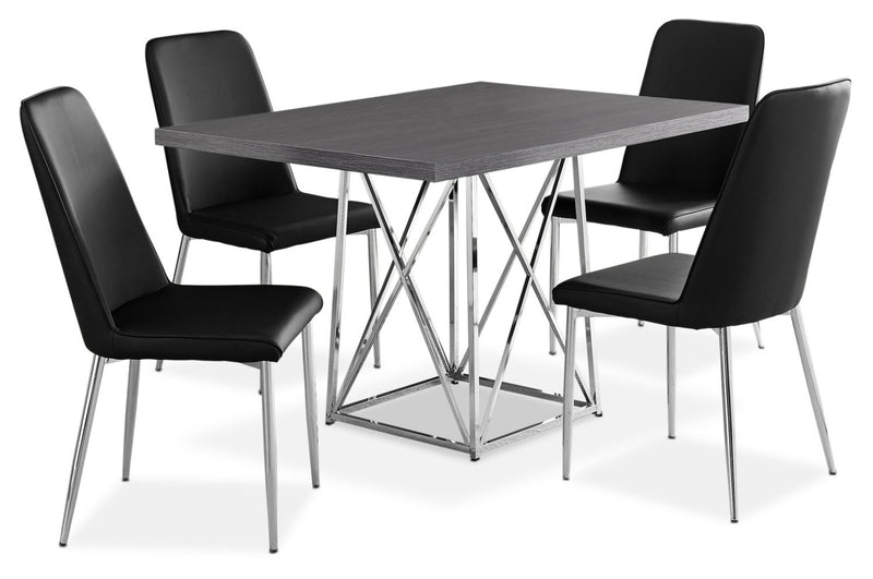 Arment 5-Piece Dining Package - Black