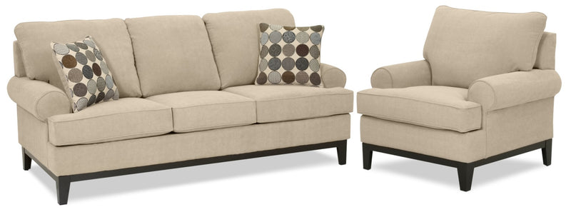 Casons Sofa and Chair Set - Mocha
