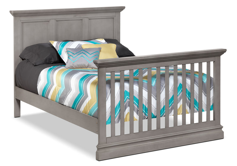 Eli Convertible Panel Double Bed - Cloud