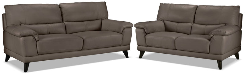 Belturbet Sofa and Loveseat Set - African Grey