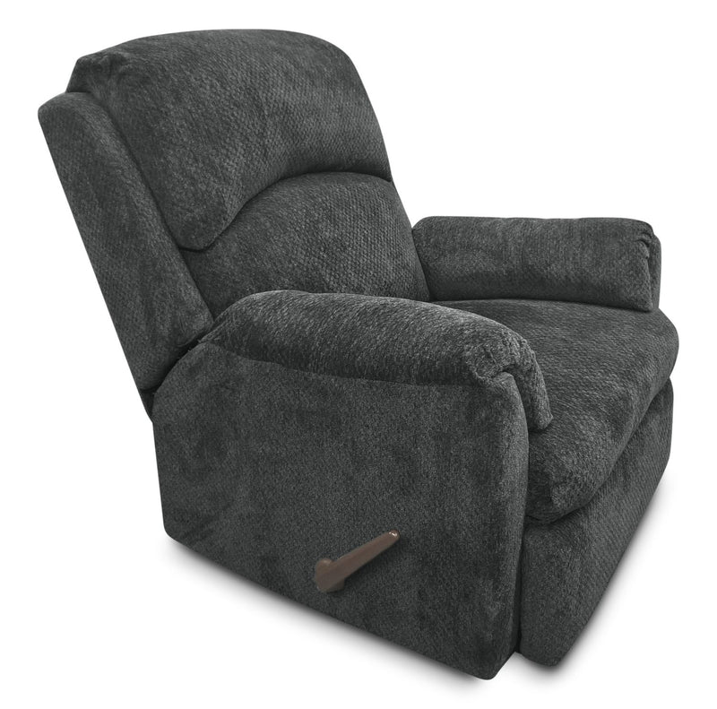Hartney Chenille Glider Reclining Chair - Grey