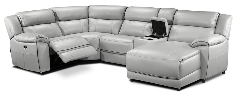 Southminster 5-Piece Sectional with Right-Facing Chaise - Grey