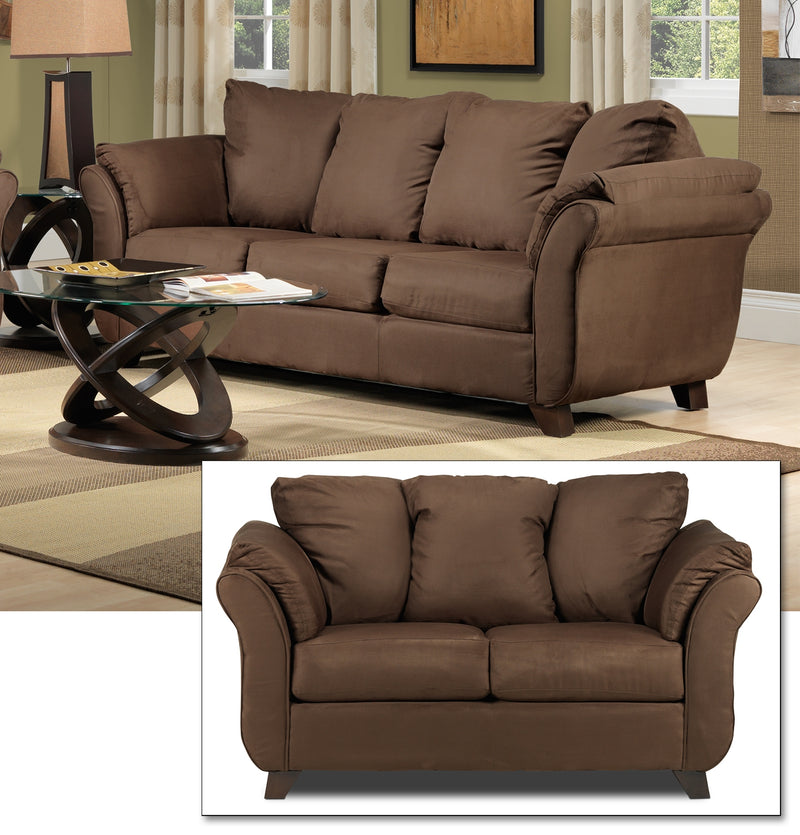 Breton 2 Pc. Living Room Package - Chocolate