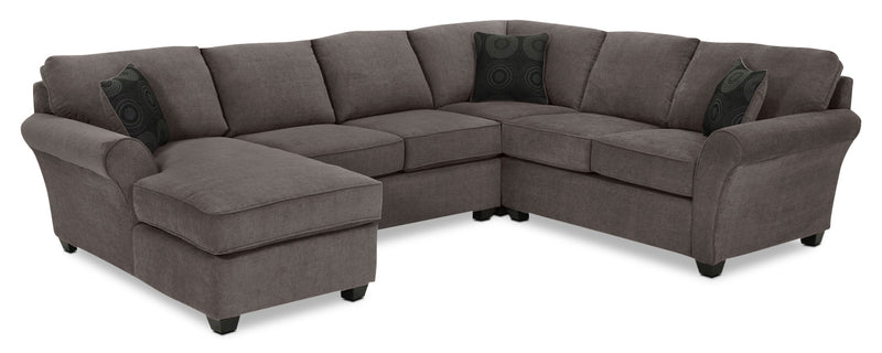 Eckel 4-Piece Sectional with Left-Facing Chaise - Charcoal