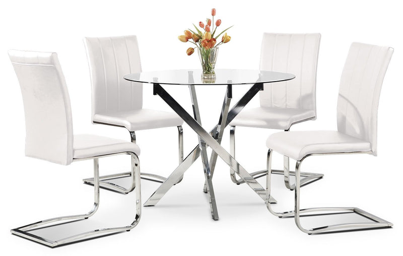 Graz 5-Piece Dining Package - White