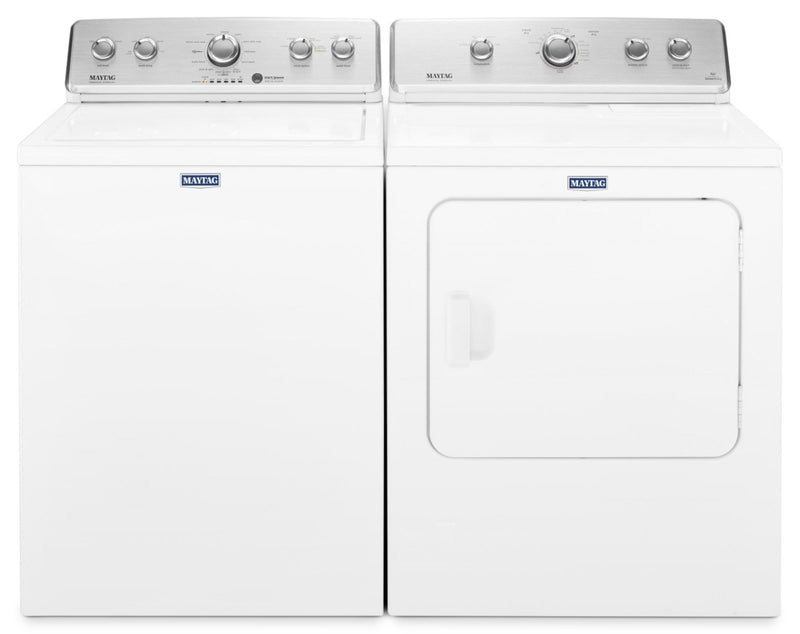 Maytag 4.4 Cu. Ft. Top-Load Washer and 7.2 Cu. Ft. Electric Dryer – White