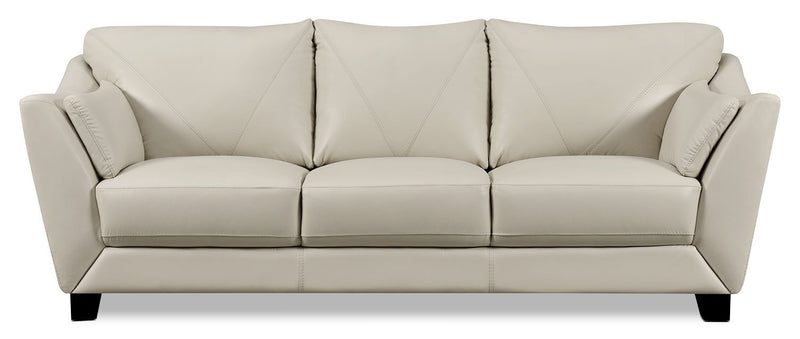 Barker Genuine Leather Sofa – Smoke