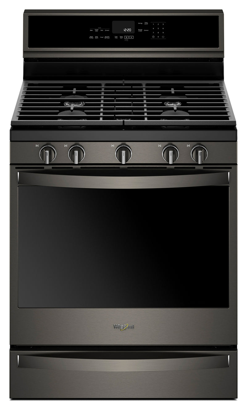 Whirlpool® 5.8 Cu. Ft. Smart Freestanding Gas Range with EZ-2-Lift™ Grates - WFG975HV