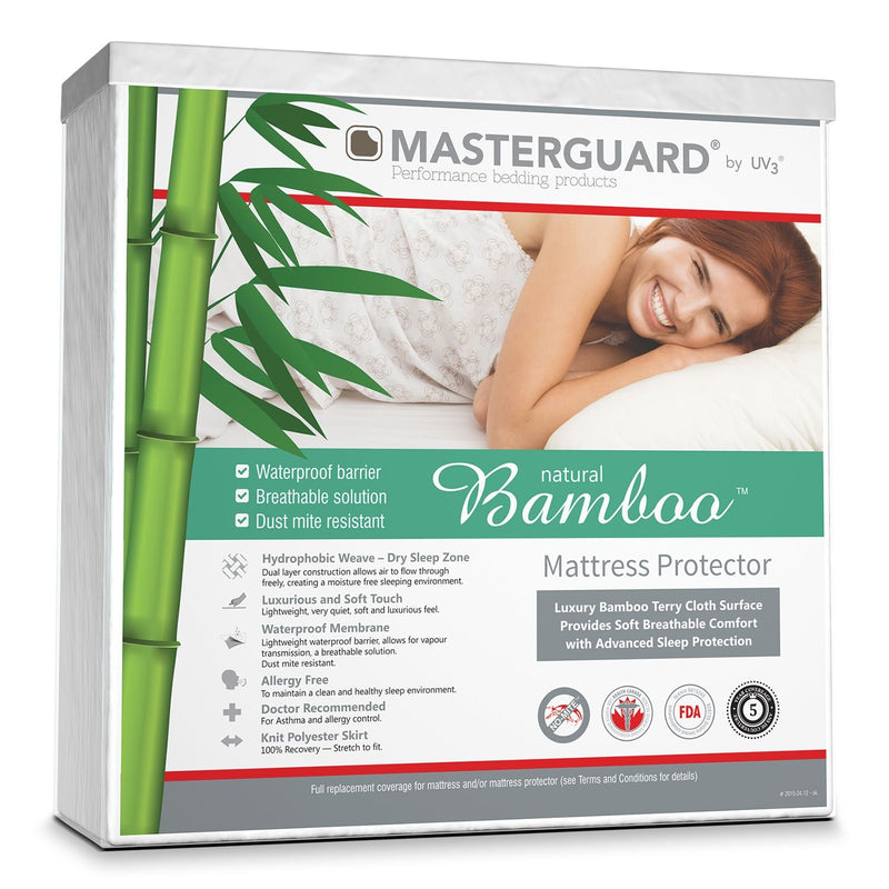 MasterGuard® Natural Bamboo™ Mattress Protector - King