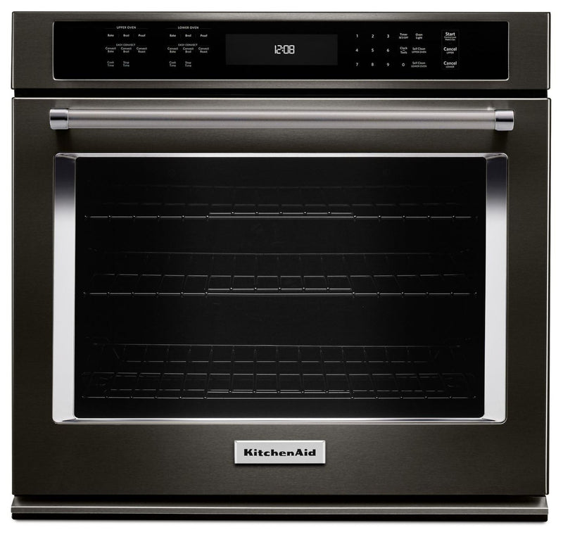 KitchenAid Black Stainless Steel Convection Wall Oven (5.0 Cu. Ft.) - KOSE500EBS