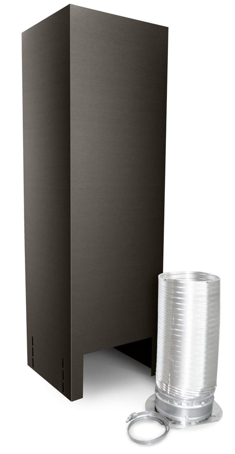 "KitchenAid Black Stainless Steel 36"" Chimney Extension Kit for Island Mount - EXTKIT16ES"