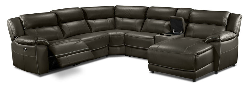 Southminster 6-Piece Sectional with Right-Facing Chaise - Charcoal Grey