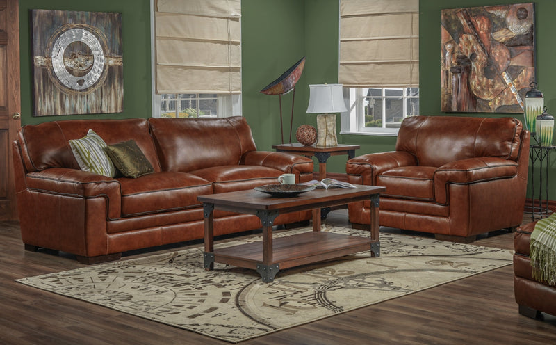 Colten Sofa and Chair Set - Brown