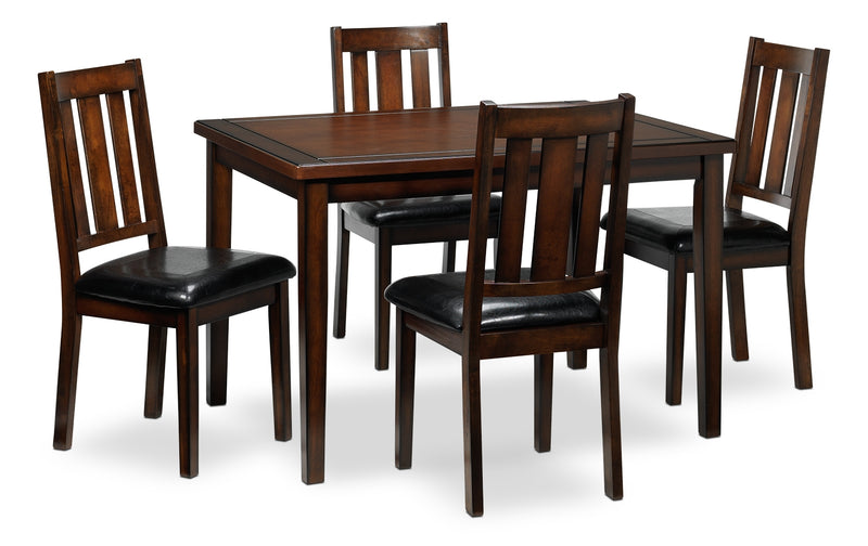 Morrissey 5-Piece Dinette Set - Dark Brown Cherry