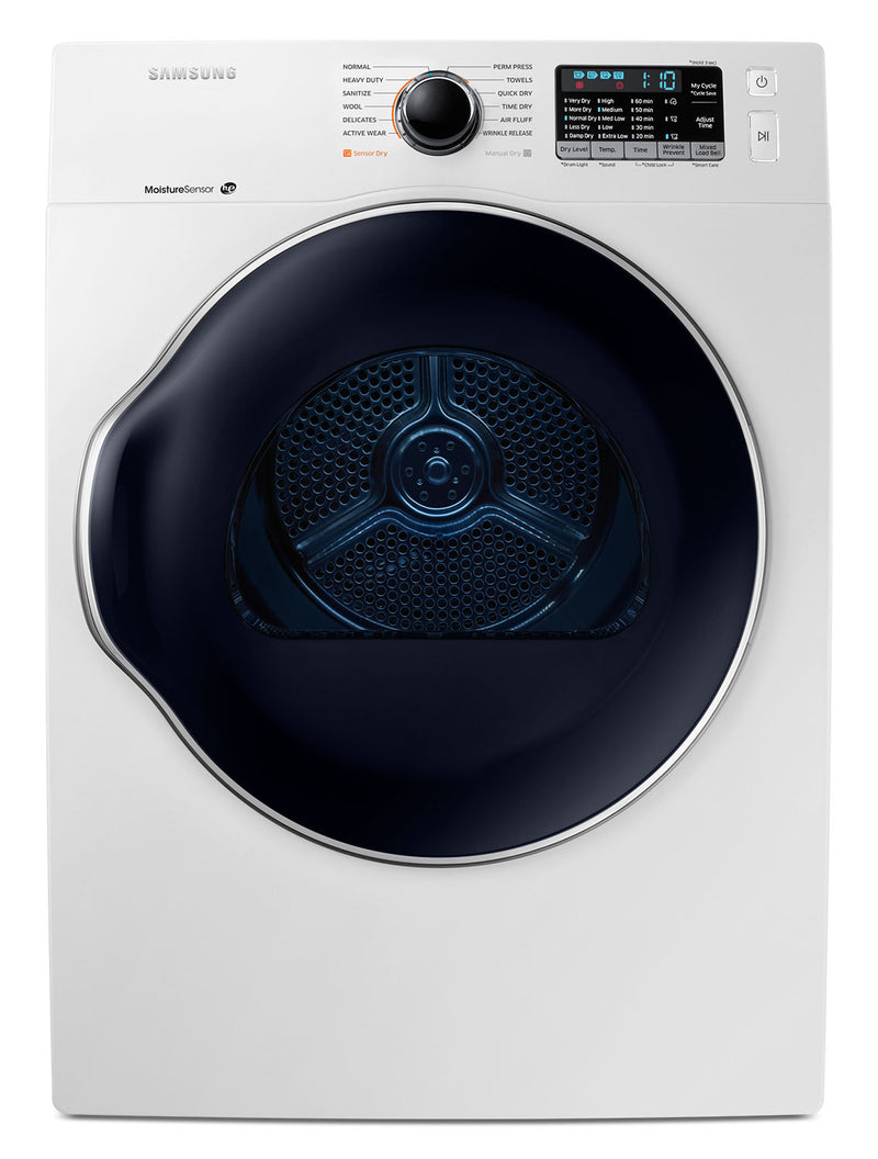 Samsung White Front-Load Electric Dryer (4.0 Cu. Ft.) - DV22K6800EW/AC