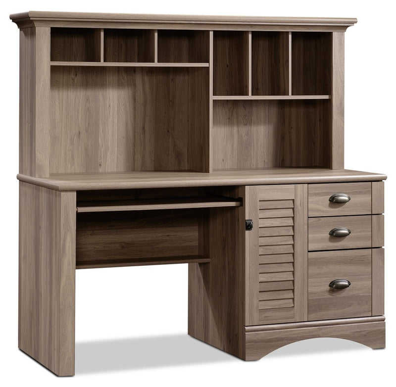 Dawley Desk and Hutch - Salt Oak