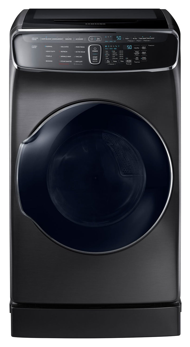 Samsung Black Stainless Steel Electric Dryer (7.5 Cu. Ft.) - DVE60M9900V/AC