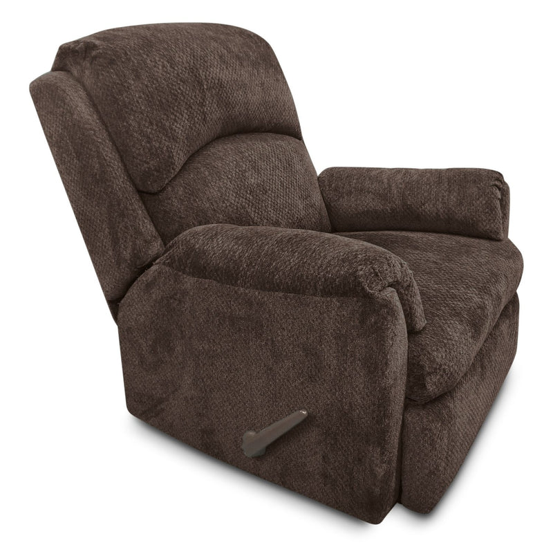 Hartney Chenille Glider Reclining Chair - Brown