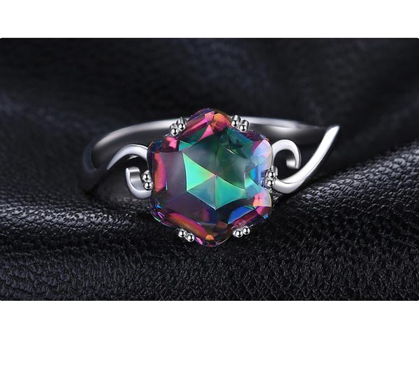 crafted fire in rings ring noble mystic sterling solid product silver carat products image rainbow topaz