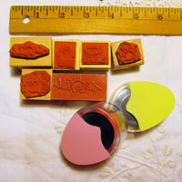 Easter Lot Tiny Small Rubber Stamps