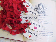 Alice Vintage Style Party Decorations in Red Hearts - Queen of Hearts -  Eat Me Drink Me Take Me - Mad Tea Party Unbirthday