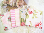 Fat Quarter Fabric Bundle - 5 Pieces - Shabby Roses Paris Bebe Betty Wang