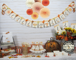 Leaves Pumpkins Wedding Decorations Fall In Love Just Married Mr & Mrs