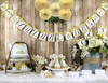 Lemon Yellow Floral Bridal Shower Decorations