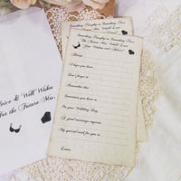 Lingerie Bride Advice Game Deluxe Large Cards with Keepsake Advice Bag - Set of 12