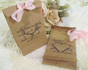 Bridal Shower Favor Gift Bags with Ribbons - Lingerie Party Bridesmaid Gift Bags