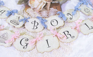 Its a Girl Shower Banner w/ribbons - Baby Shower Sign Garland Bunting -Choose Size & Ribbon- Sprinkle - Small Medium Large - its a girl boy